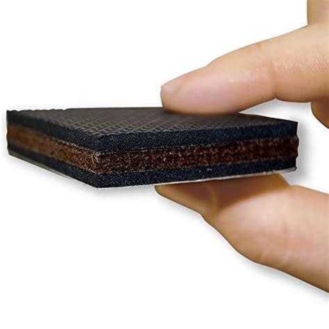 rubber furniture pads for wood floors non slip 16 square furniture pads premium rubber felt