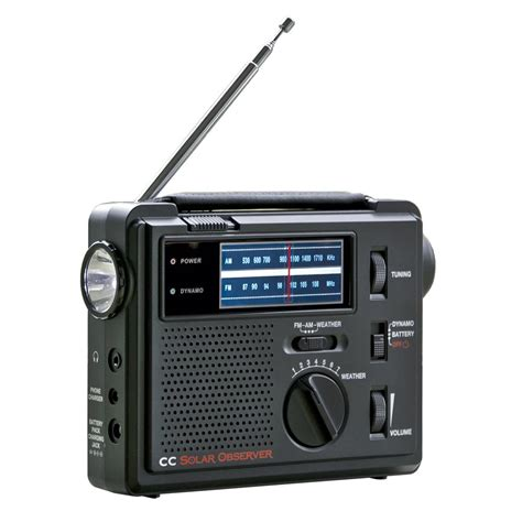 CC Solar Observer AM/FM/Weather Windup Emergency Radio ...