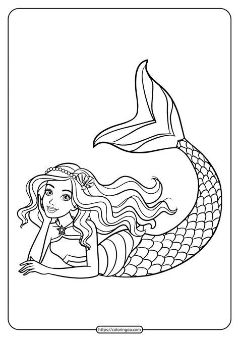 cute barbie mermaid coloring page  girls