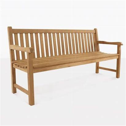 Bench Seat Seater Teak Outdoor Garden Wave