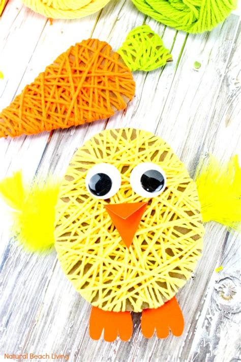 easy easter crafts  kids yarn crafts  kids
