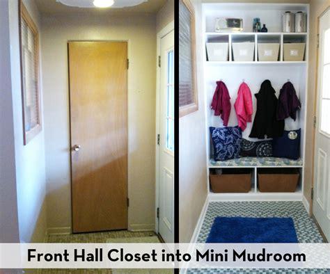 front closet into mini mudroom hip violet