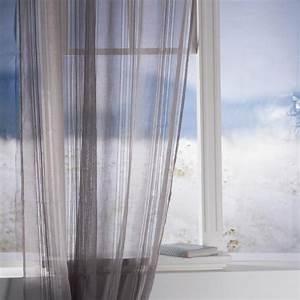 Rideau Voilage Gris : rideau voilage lisa 140x240cm gris ~ Preciouscoupons.com Idées de Décoration