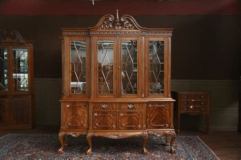 ebay mahogany china cabinet and claw four door mahogany china cabinet ebay