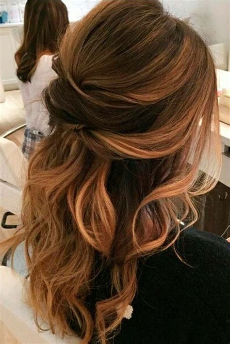 Wavy Half Updo Hairstyles by Picture Of A Wavy Half Updo With Several Twists Looks