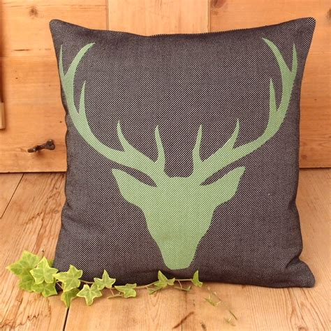 federa cuscino federa cuscino testa di cervo verde e nero stile