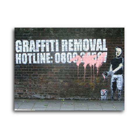 banksy for sale canada graffiti removal 14 quot w x 11 quot h banksy touch of modern