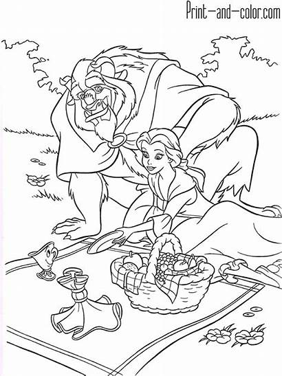 Beast Beauty Coloring Pages Chip Belle Potts