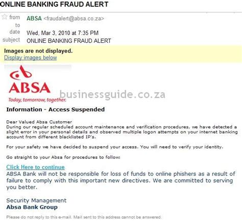 With a credit card from absa, you can enjoy great rewards and benefits while maintaining a good credit history. Business Guide - Blog: Phishing Scam with Absa Banking