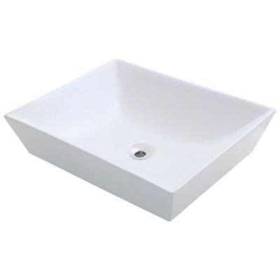 home depot white vessel sink polaris sinks porcelain vessel sink in white p073v w the