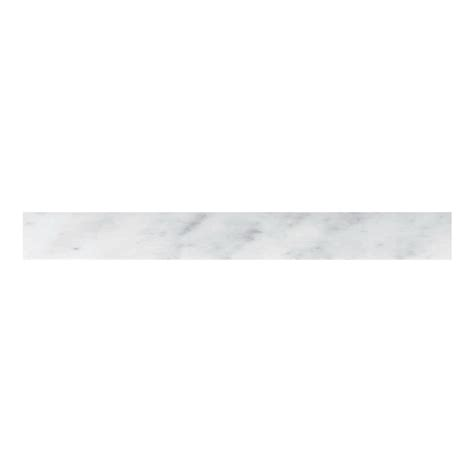 marble threshhold shop cci 4 in x 36 in white marble natural marble threshold tile at lowes com