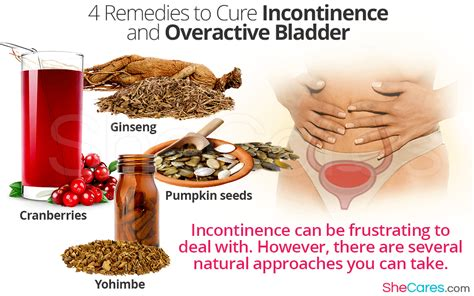 remedies  cure incontinence  overactive bladder