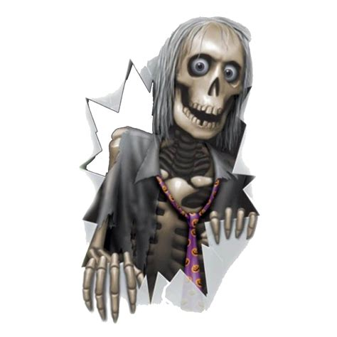 skeleton  window halloween png