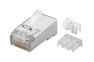 Rj45 Cat 6a Stp Modular Connectors  Awg 23