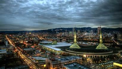 Portland Skyline Wallpapers Oregon Cityscape Night Background