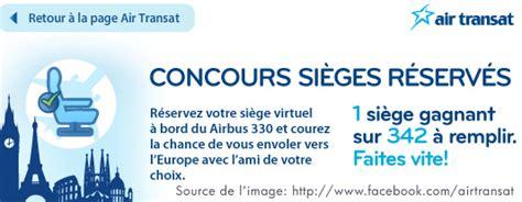reserver siege air transat le concours sièges réservés de air transat sur egq