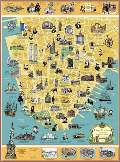 Manhattan Landmarks Map Arabcookingme