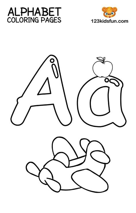printable alphabet coloring pages  kids  kids