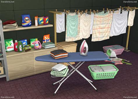 Sims 4 Home Decor : Laundry Decor Set (the Sims 4)