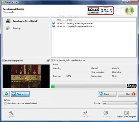 Whether video or audio files, whether for import or export, whether 1‐click conversion from nero disc to device to nero recode, you can easily rip dvds*, avchds. DVD Recoding