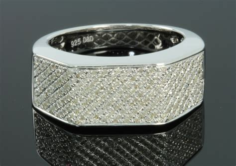 .64 Carat Mens White Gold Finish Diamond Engagement