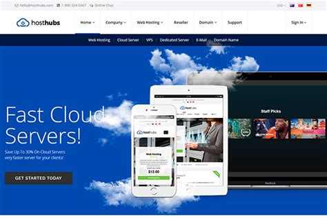 hosting  cloud services wordpress themes  reputable