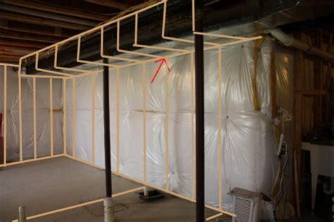 basement finish soffit  poured concrete