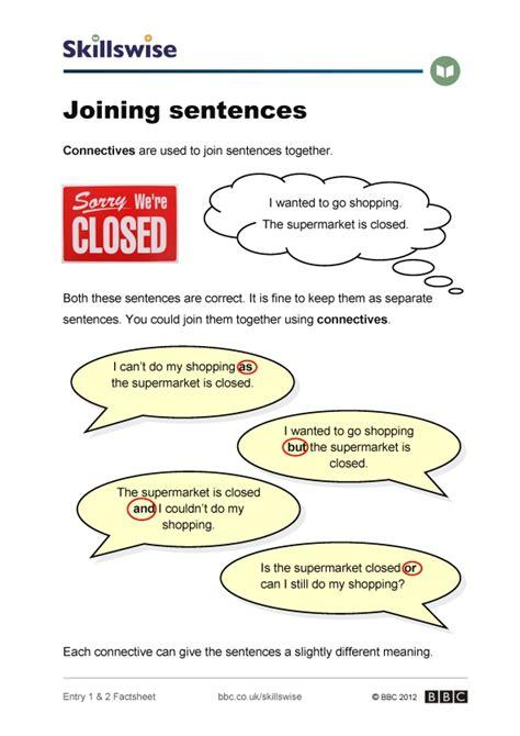 Joining Sentences