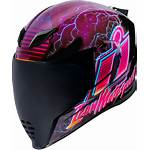 Icon Synthwave Helmet Racing Airflite Unisex Riding