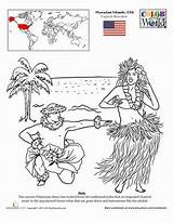 Coloring Hula Hawaii Worksheets Dance Education Worksheet Hawaiian Sheets Dancing Crafts Places Lei Take Du Mount Around Edit Monde Dancers sketch template
