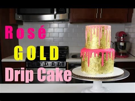 drip cake covered  edible gold