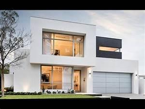 2 disenos de casas modernas de dos pisos youtube for Disenos de interiores de casas modernas