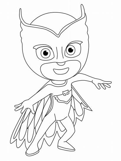 Coloring Pj Masks Printable Cartoon Crush Character