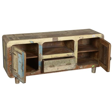 rustic tv console table rustic reclaimed wood furniture retro patchwork tv stand