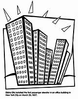 Coloring Elevator Pages Crayola Office Buildings Drawing Sheets Building York Otis Pencils Colored Crayons Markers Elisha Skyscraper Passenger Installed Getdrawings sketch template