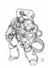 Warhammer Space Coloring 40k Marine Pages Colouring Devastator Deviantart Hounds Messor Sgt Greyall Alpha Marines Crusade Wolves Template Books Eternal sketch template