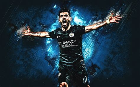 Download wallpapers Sergio Aguero, Manchester City FC ...
