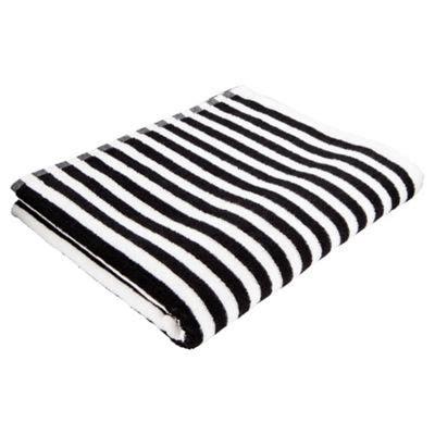 black and white towels bathroom buy tesco black white stripe bath towel from our bath 22757