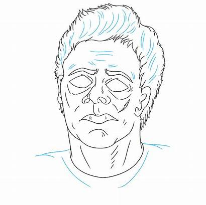 Myers Michael Draw Halloween Step Wrinkles Lines
