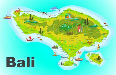 Insel Bali Karte