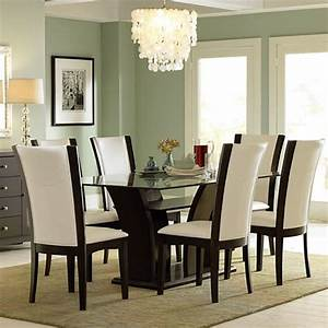 rectangular glass top dining table by home elegance With glass top dining room tables rectangular