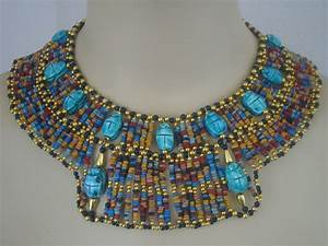Egyptian Mummybead cleopatra Bib Collar Necklace 13 by thenile