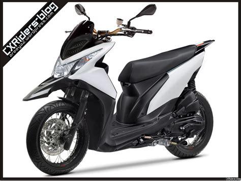konsep modifikasi honda beat fi super matic motard