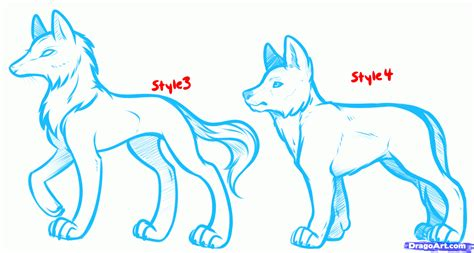 drawn anime dog pencil   color drawn anime dog