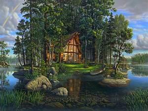 Other, Wilderness, Cottage, Lake, Peaceful, Splendor ...