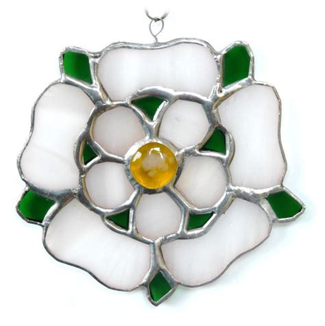SOLD Yorkshire Rose Suncatcher Stained Glass 054 in 2020 ...