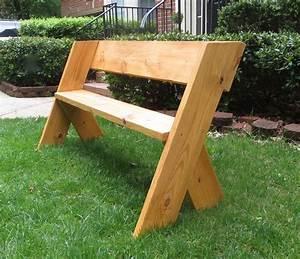Outdoor Wooden Bench Diy