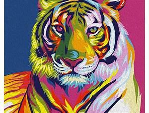 """Rainbow Tiger"" Vayu Romdoni - | [Art] | Pinterest | Tigers"