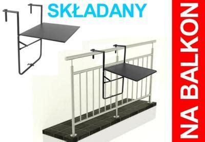 stolik na balkon barierke balustrade skladany hit