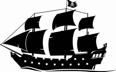 Pirate Ship Silhouette Clipart Pearl Drawing Clip